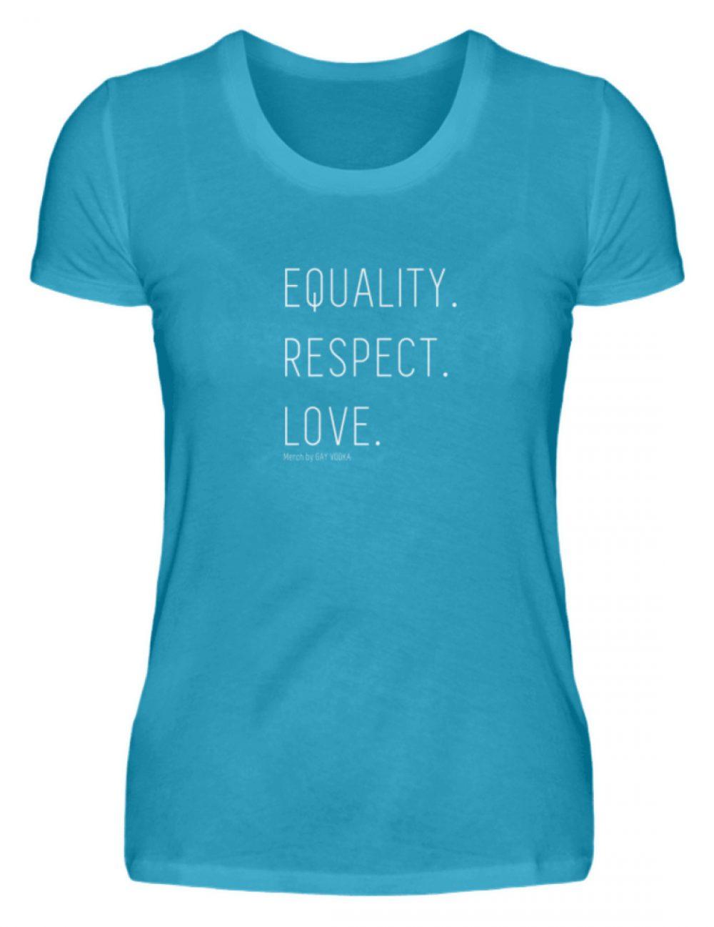 EQUALITY. RESPECT. LOVE. - Damen Premiumshirt-3175
