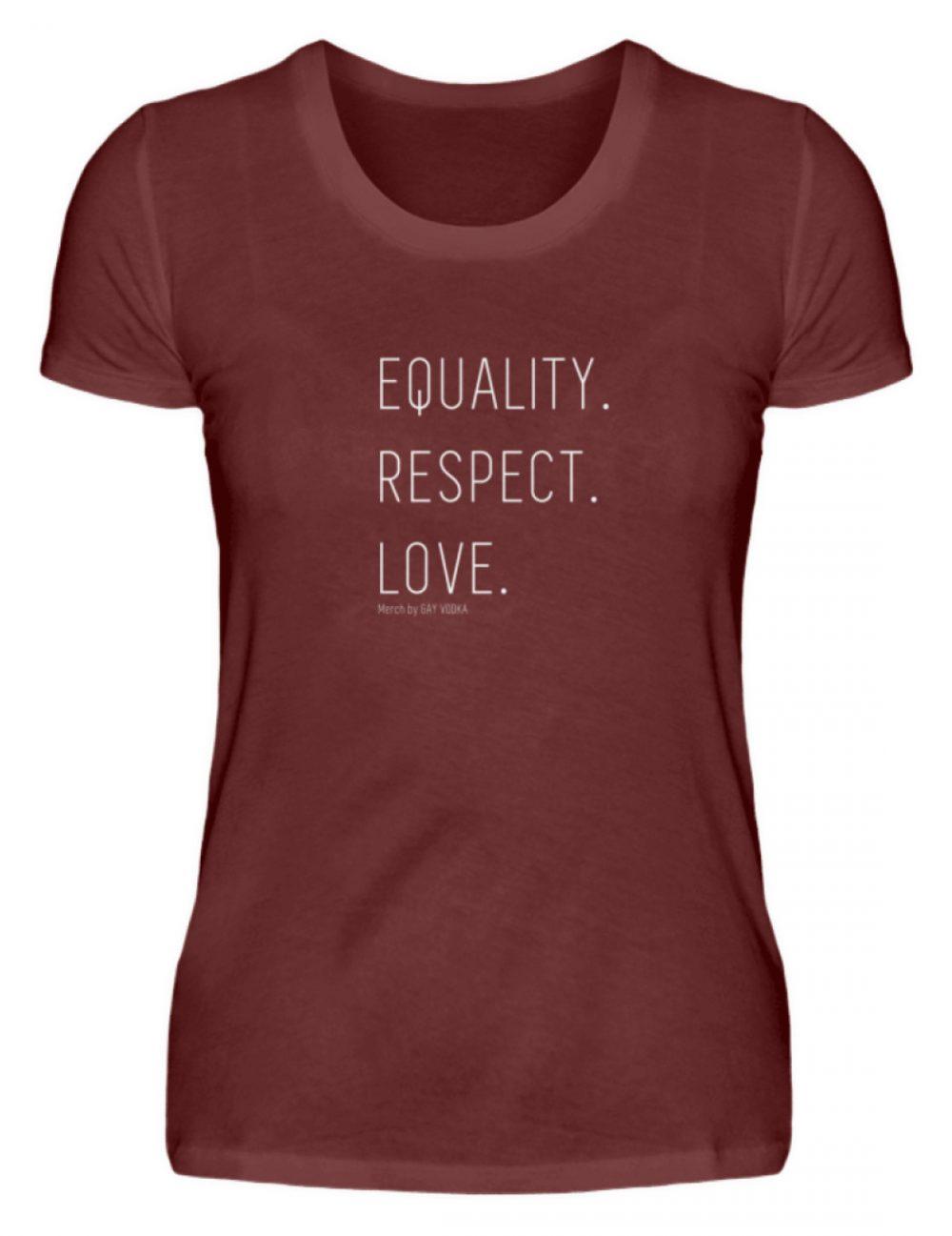EQUALITY. RESPECT. LOVE. - Damen Premiumshirt-3192