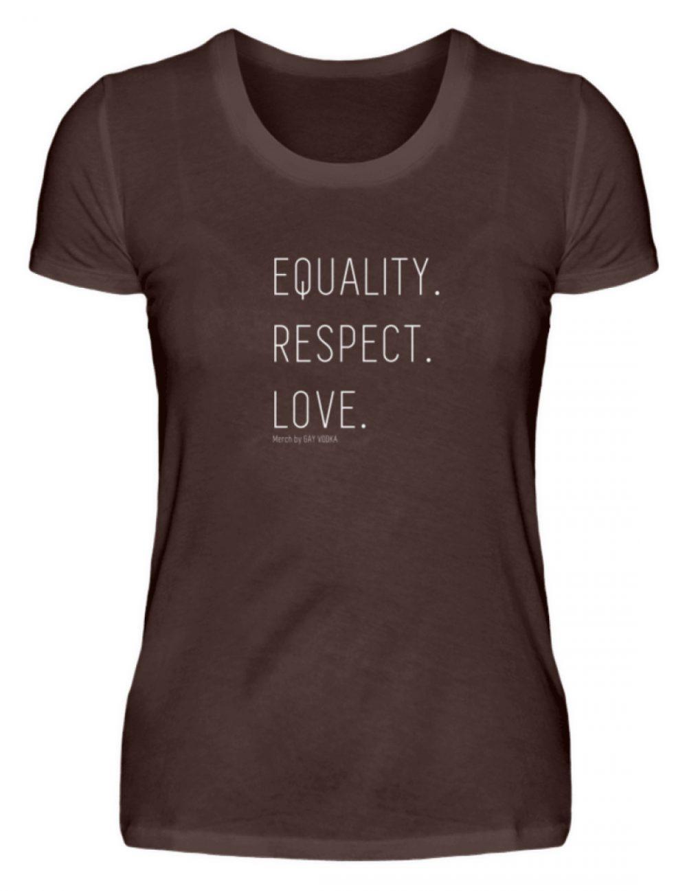 EQUALITY. RESPECT. LOVE. - Damen Premiumshirt-1074