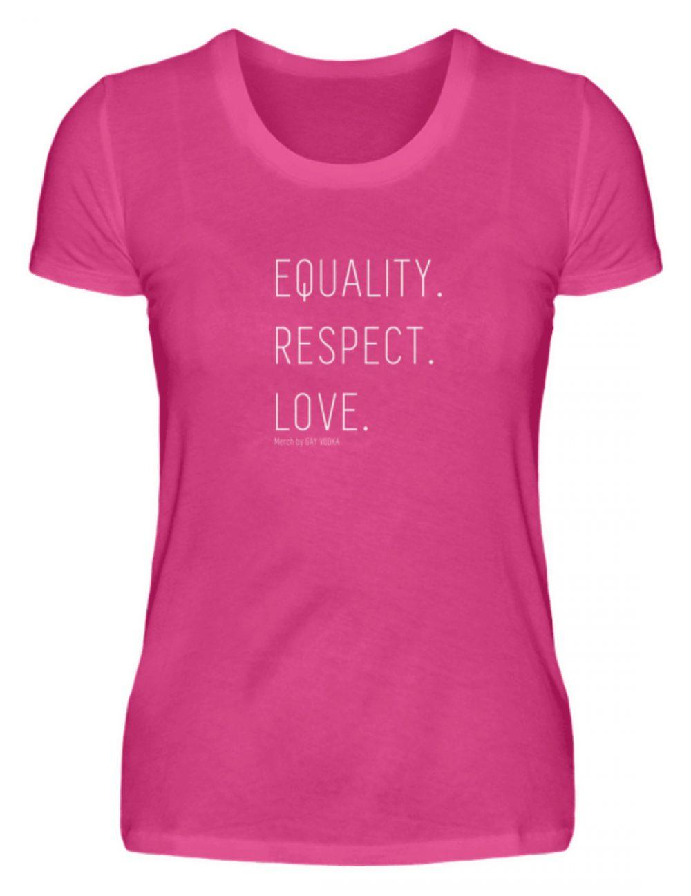 EQUALITY. RESPECT. LOVE. - Damen Premiumshirt-28