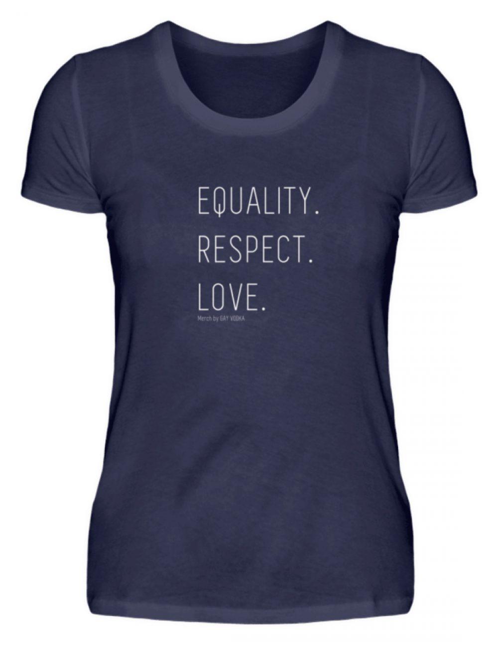 EQUALITY. RESPECT. LOVE. - Damen Premiumshirt-198