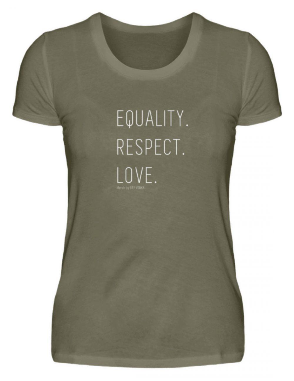 EQUALITY. RESPECT. LOVE. - Damen Premiumshirt-627