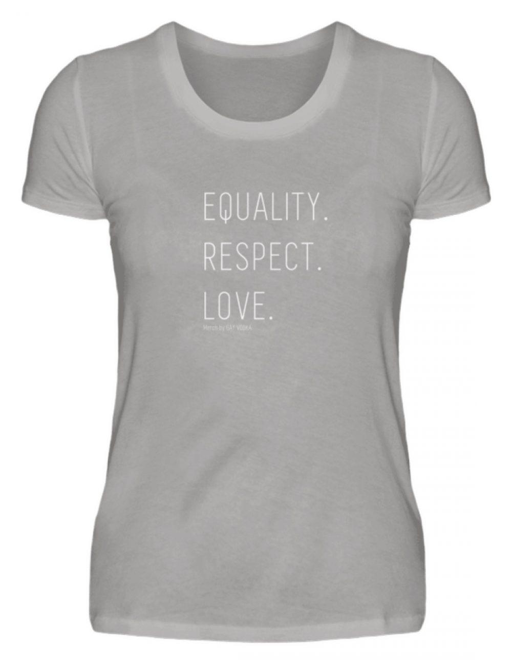 EQUALITY. RESPECT. LOVE. - Damen Premiumshirt-2998