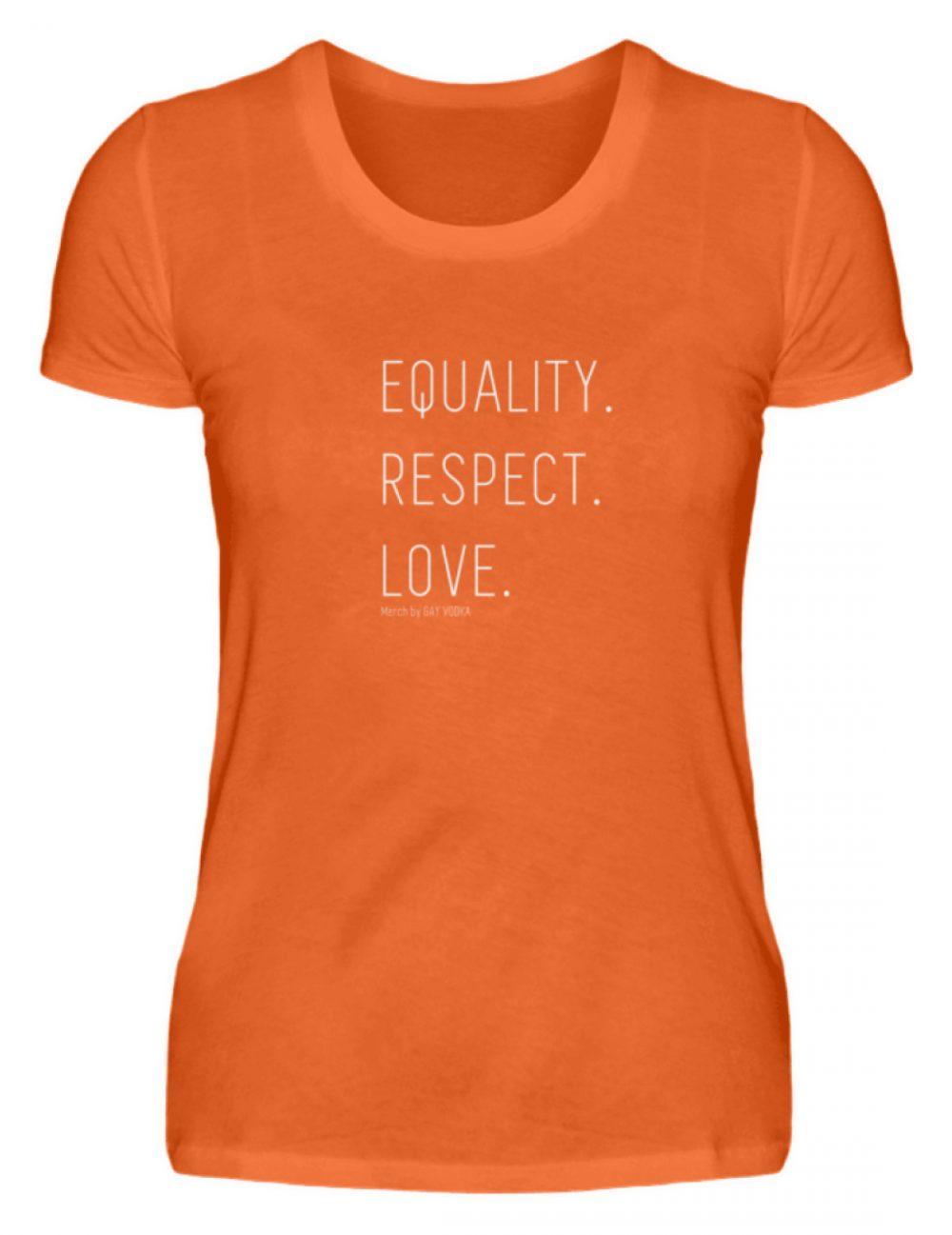 EQUALITY. RESPECT. LOVE. - Damenshirt-1692