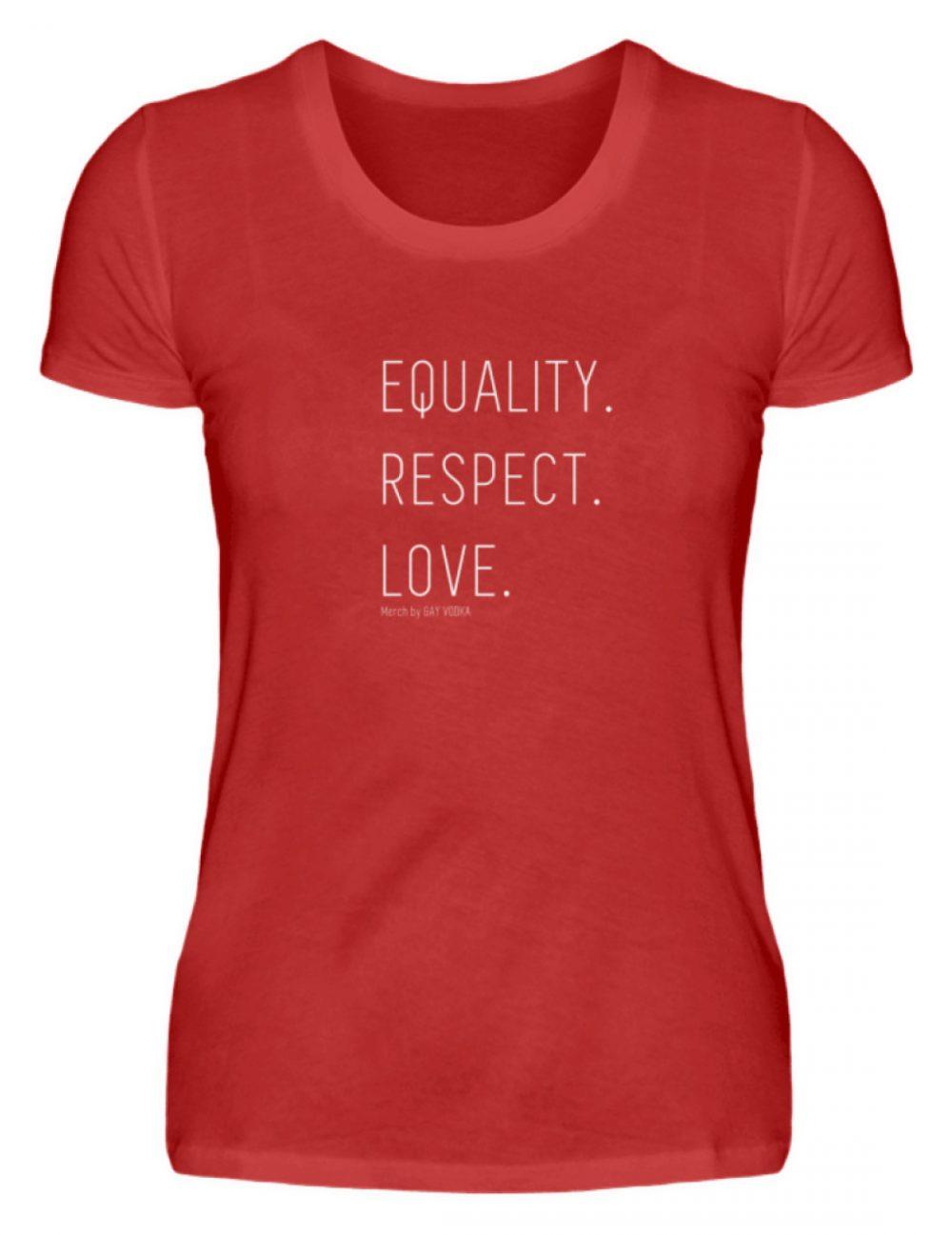 EQUALITY. RESPECT. LOVE. - Damenshirt-4