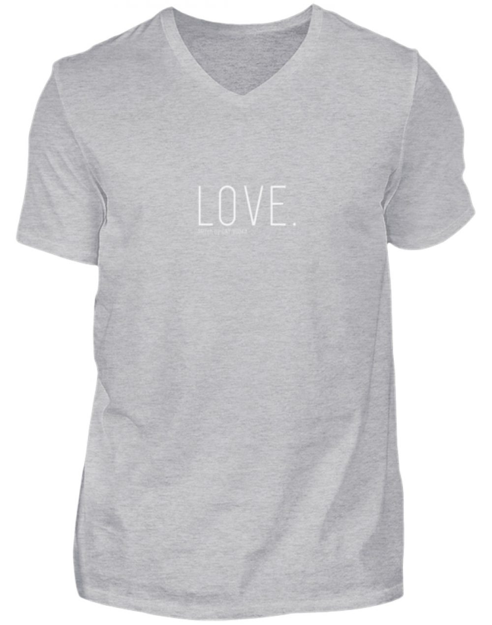 LOVE. - Herren V-Neck Shirt-17