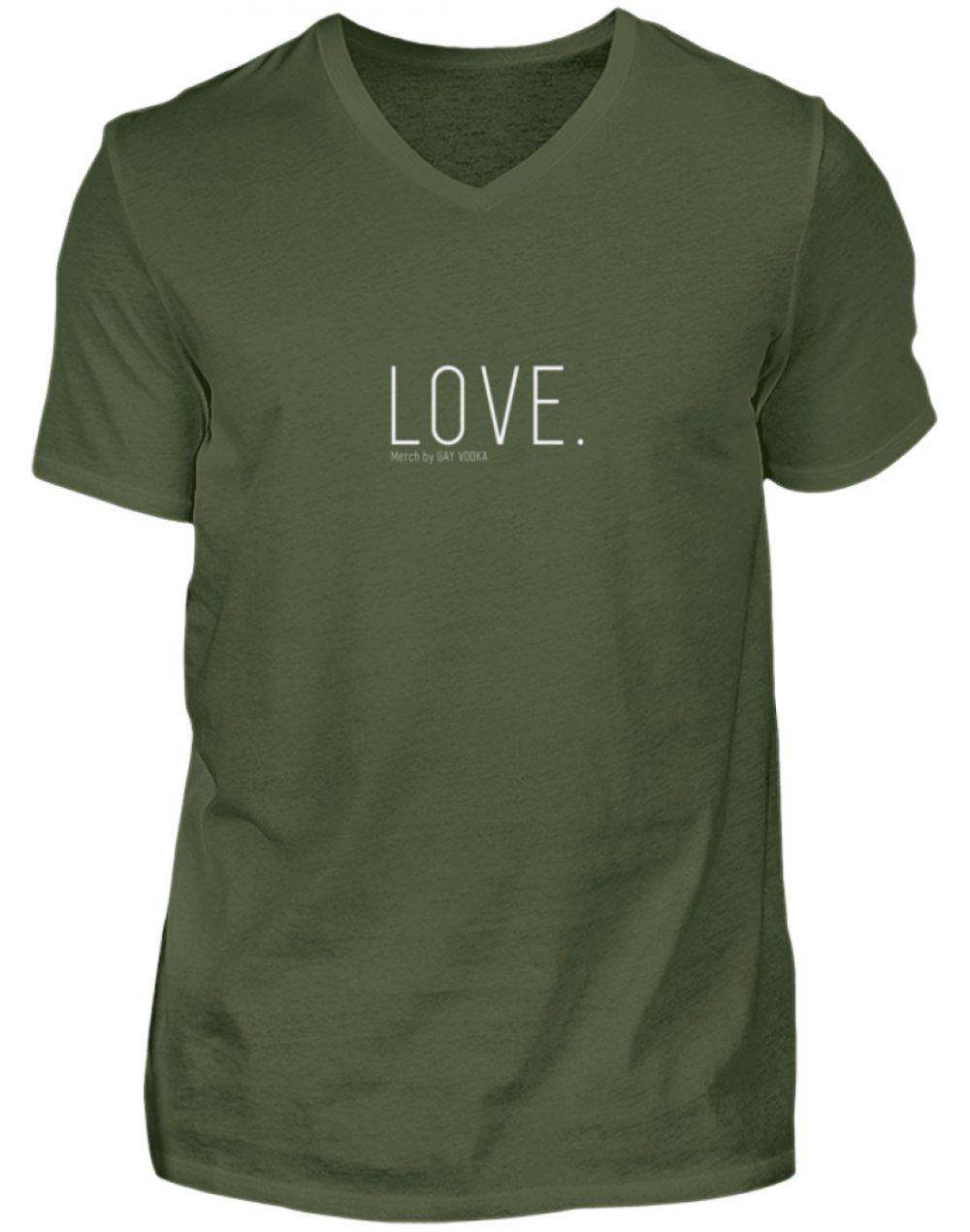 LOVE. - Herren V-Neck Shirt-2587