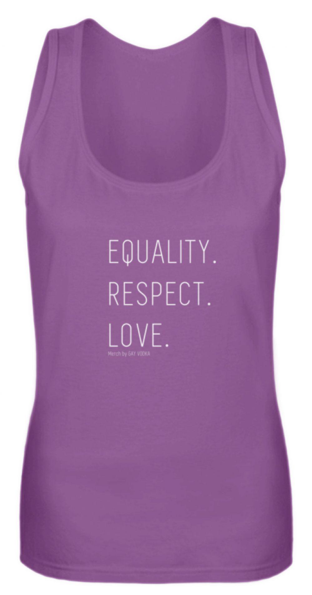 EQUALITY. RESPECT. LOVE. - Frauen Tanktop-31
