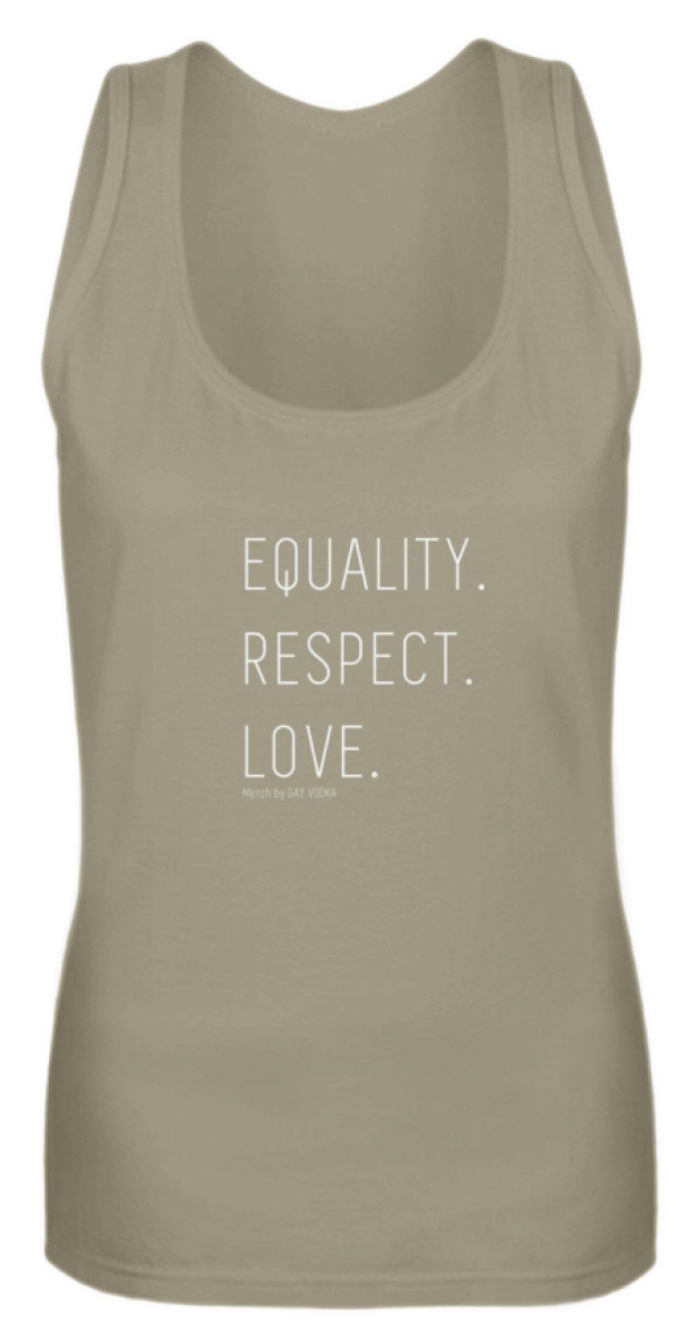EQUALITY. RESPECT. LOVE. - Frauen Tanktop-651