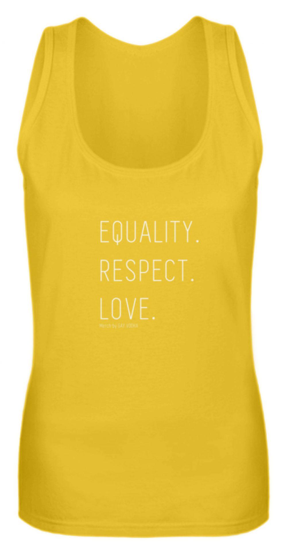 EQUALITY. RESPECT. LOVE. - Frauen Tanktop-3201