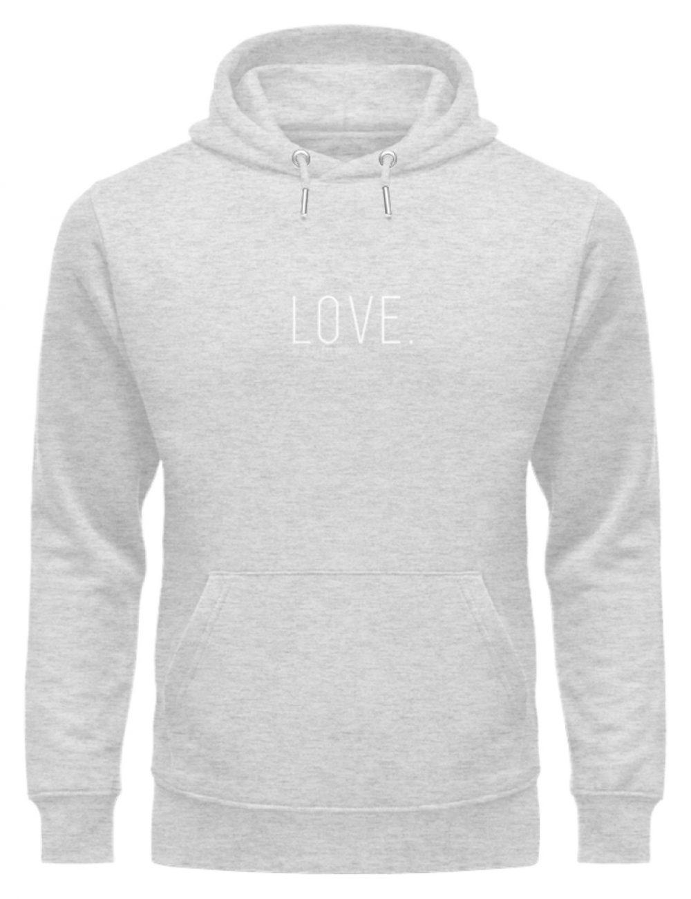 LOVE. - Unisex Organic Hoodie-6892
