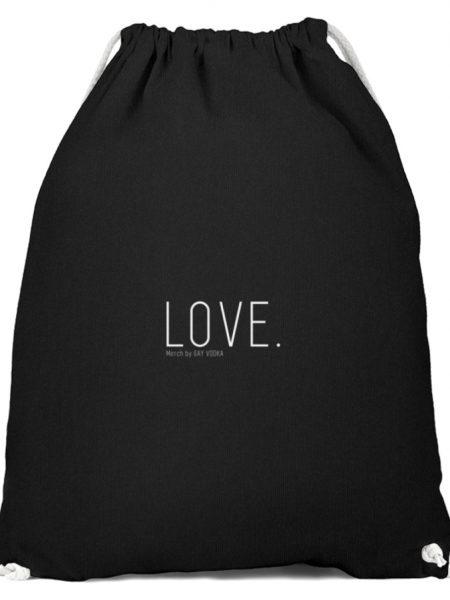 LOVE. - Baumwoll Gymsac-16