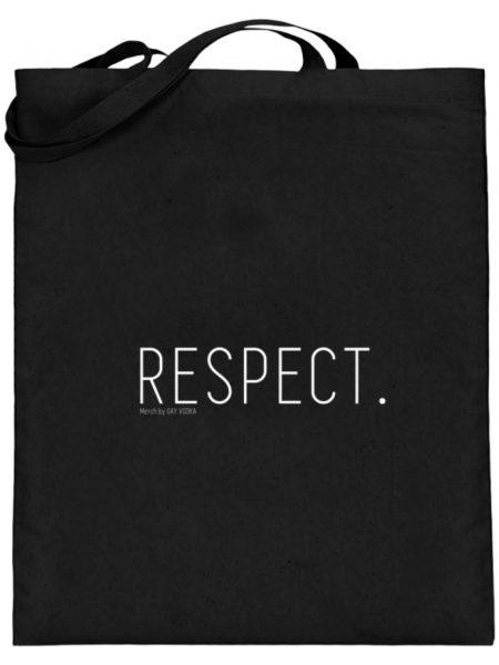 RESPECT. - Jutebeutel (mit langen Henkeln)-16