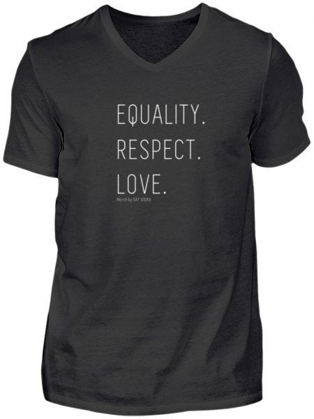 EQUALITY. RESPECT. LOVE. - Herren V-Neck Shirt-16