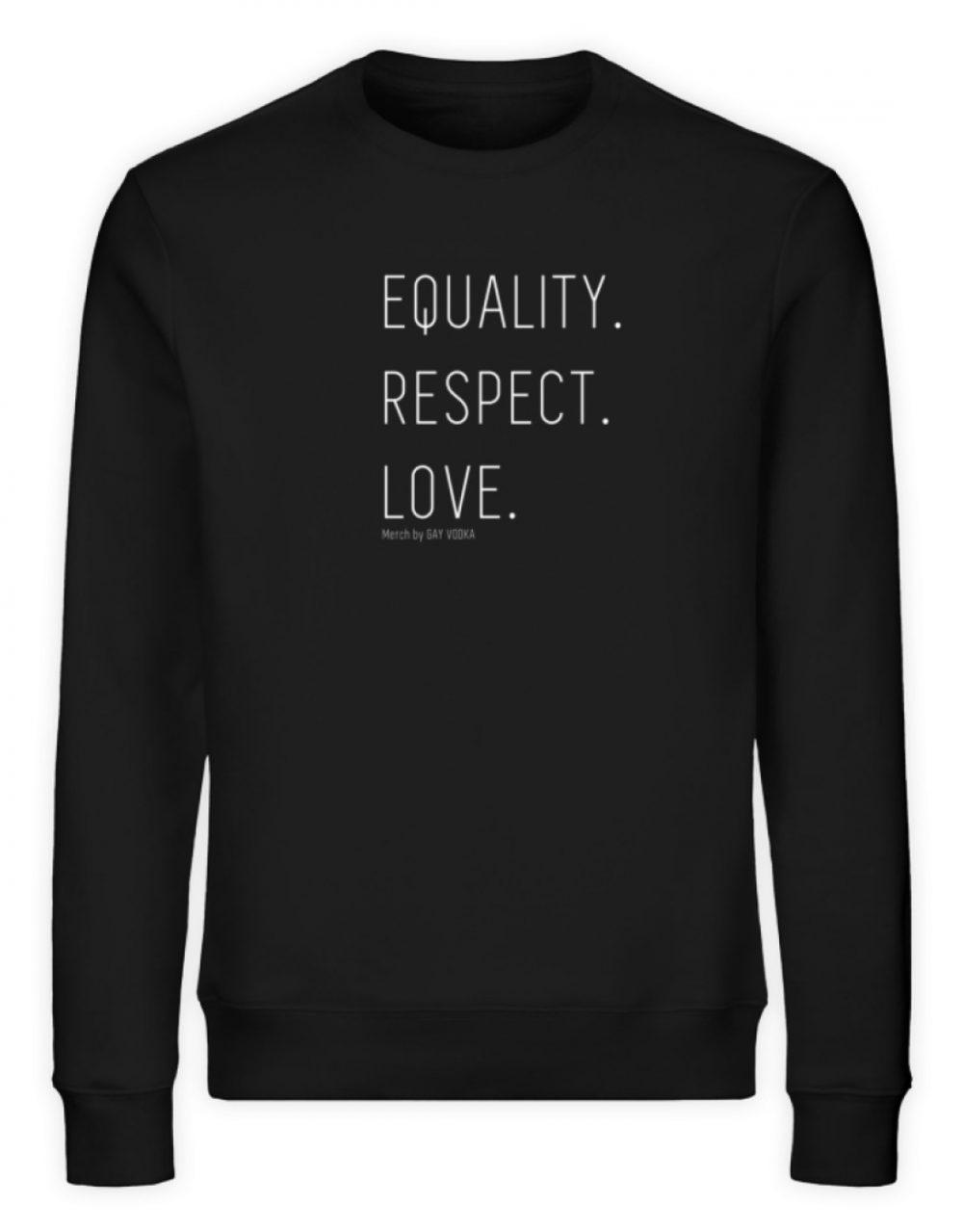 EQUALITY. RESPECT. LOVE. - Unisex Organic Sweatshirt-16
