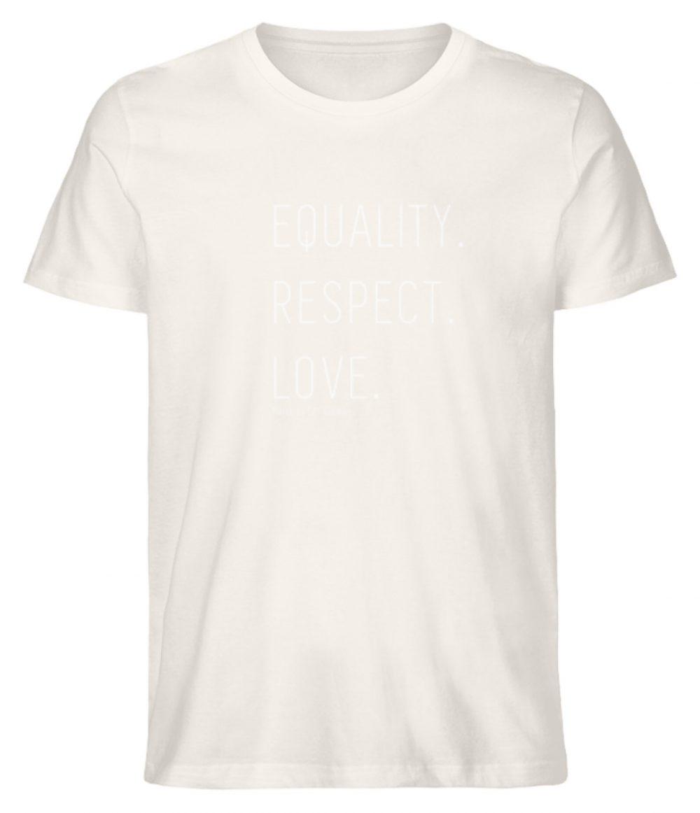 EQUALITY. RESPECT. LOVE. - Herren Premium Organic Shirt-6881