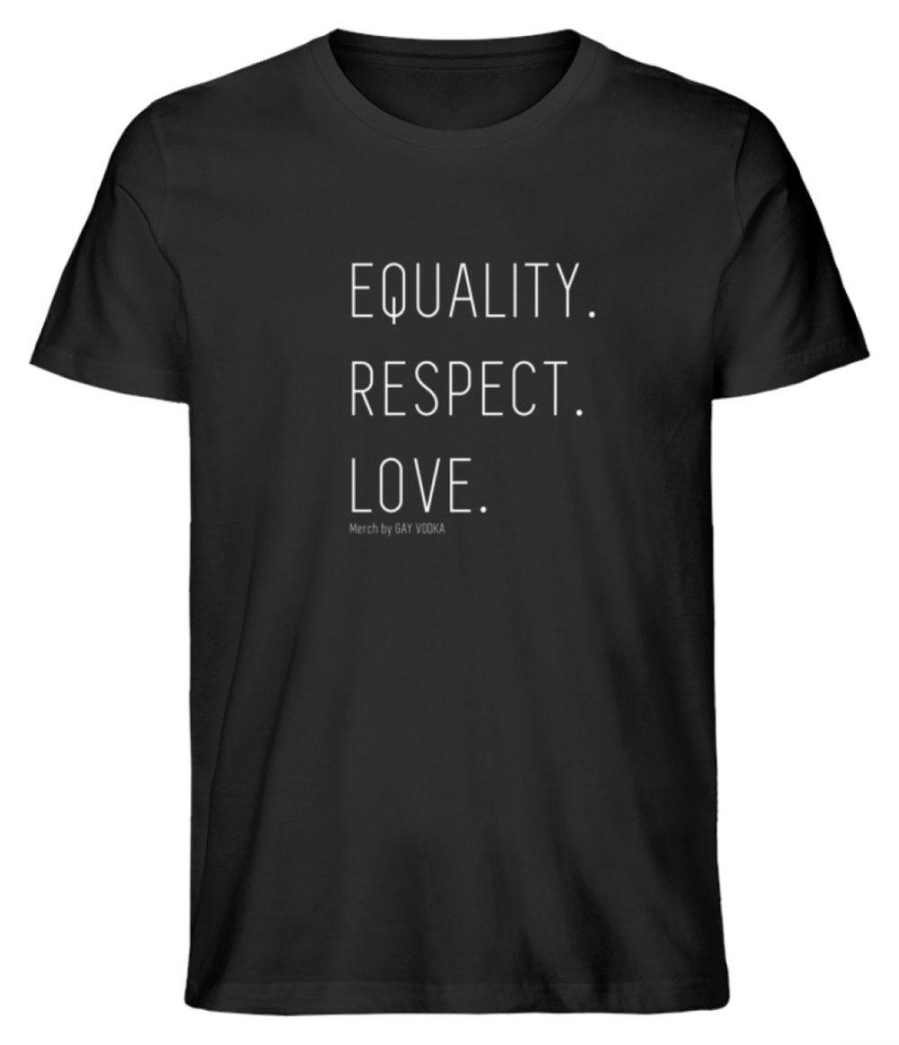 EQUALITY. RESPECT. LOVE. - Herren Premium Organic Shirt-16