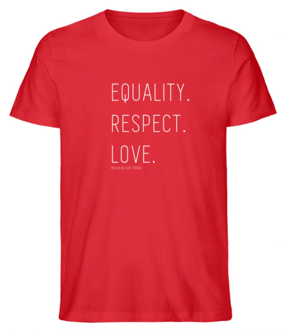 EQUALITY. RESPECT. LOVE. - Herren Premium Organic Shirt-6882
