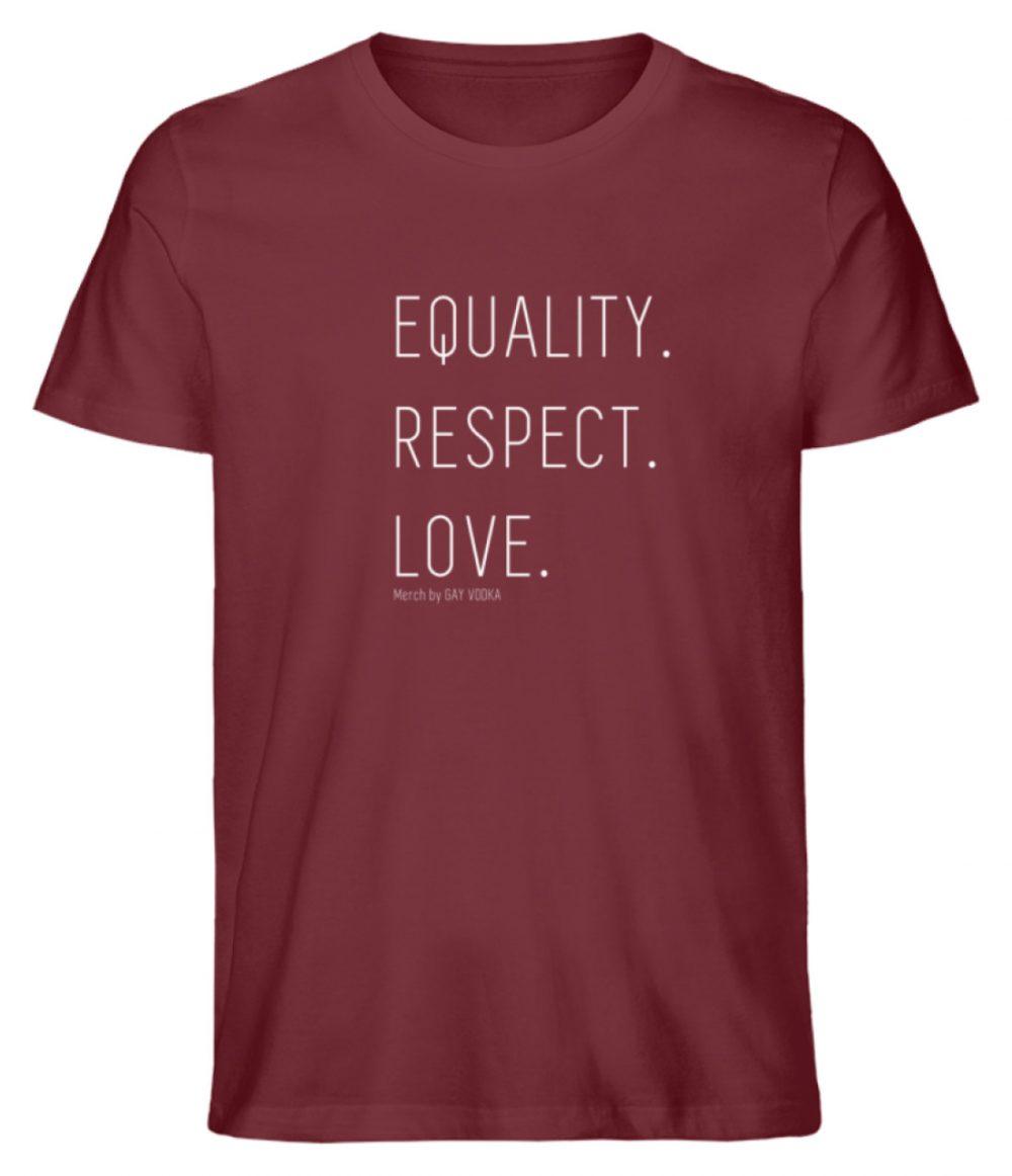 EQUALITY. RESPECT. LOVE. - Herren Premium Organic Shirt-6883