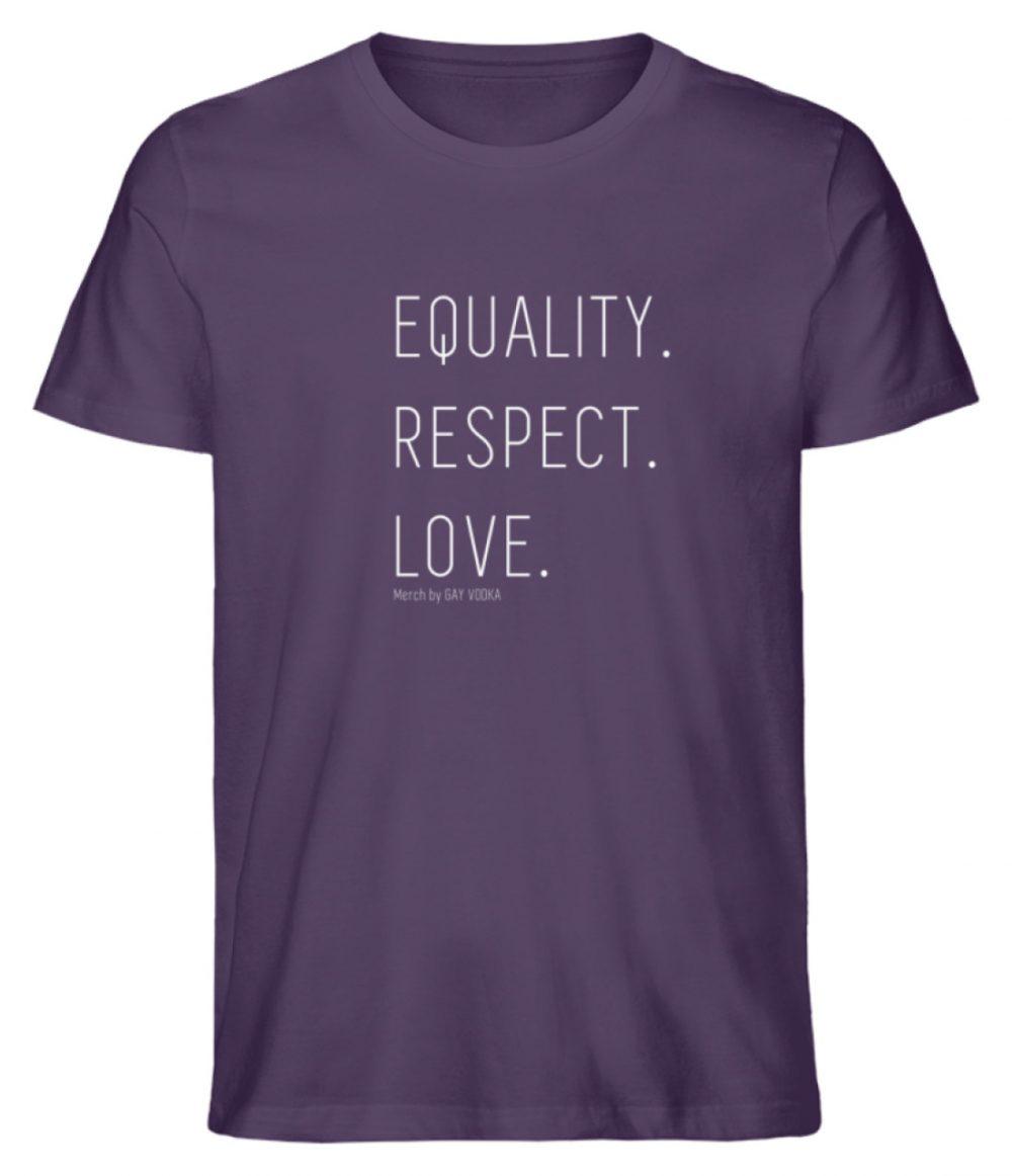 EQUALITY. RESPECT. LOVE. - Herren Premium Organic Shirt-6884
