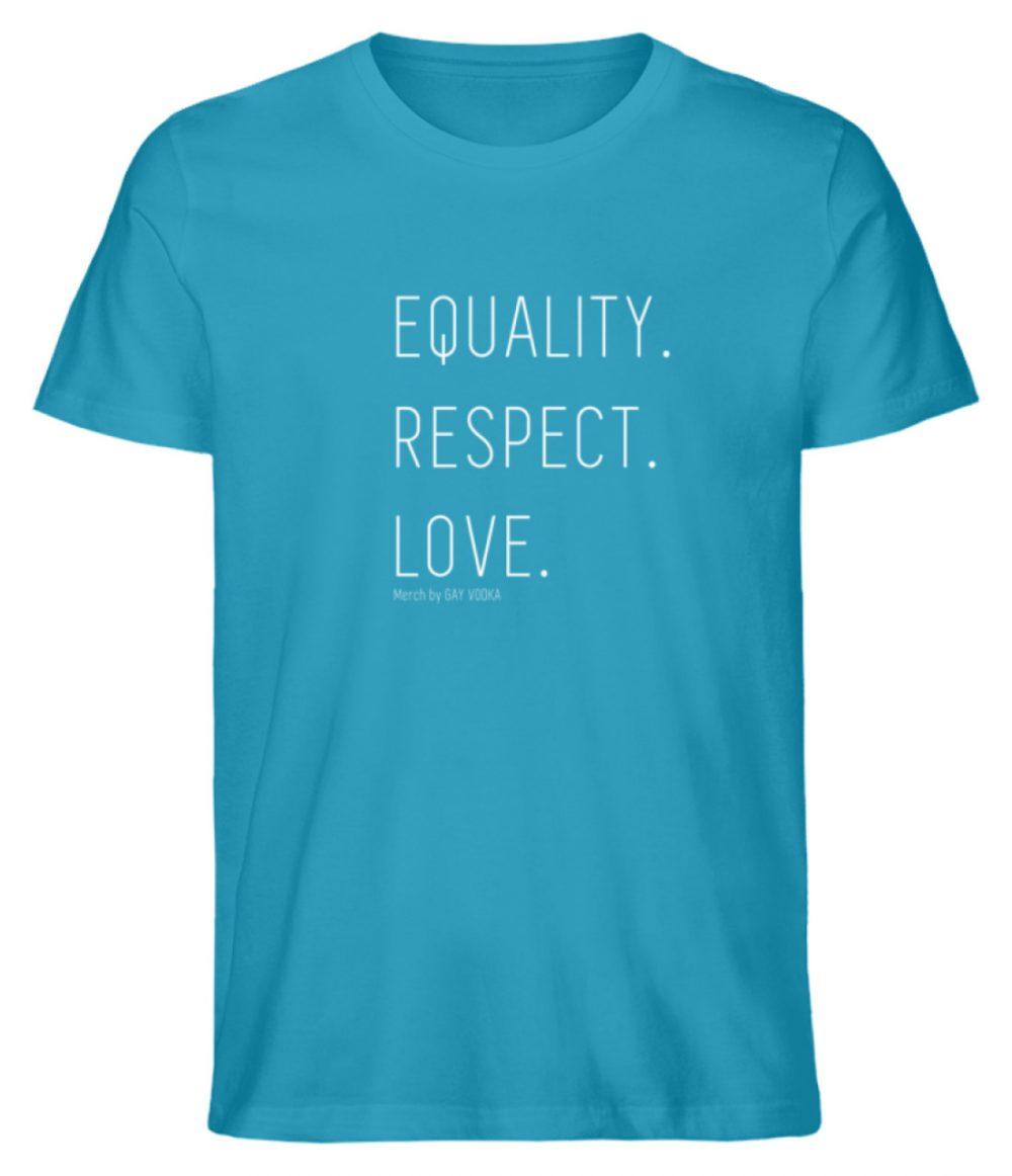 EQUALITY. RESPECT. LOVE. - Herren Premium Organic Shirt-6885