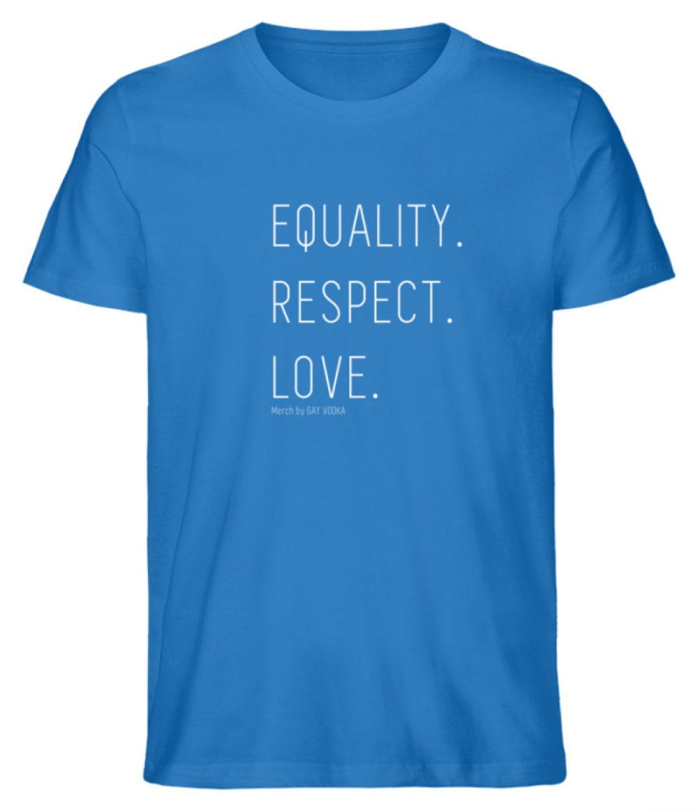 EQUALITY. RESPECT. LOVE. - Herren Premium Organic Shirt-6886