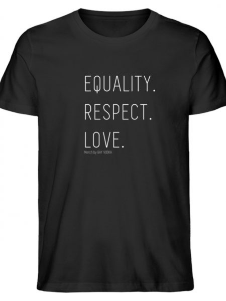 EQUALITY. RESPECT. LOVE. - Herren Premium Organic Shirt-16