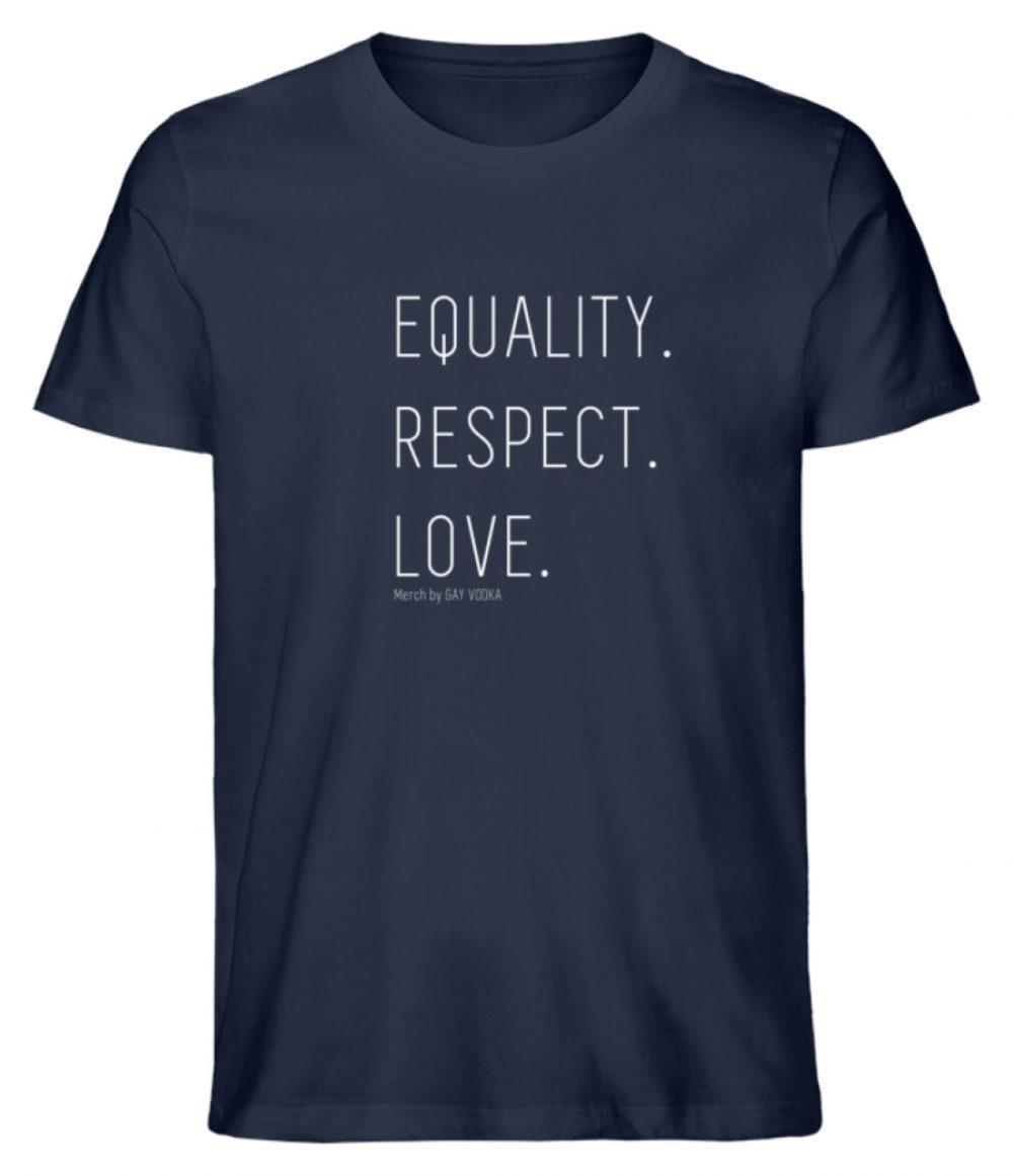 EQUALITY. RESPECT. LOVE. - Herren Premium Organic Shirt-6887