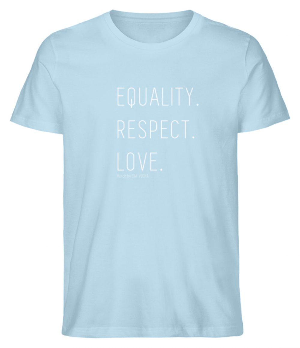 EQUALITY. RESPECT. LOVE. - Herren Premium Organic Shirt-6888