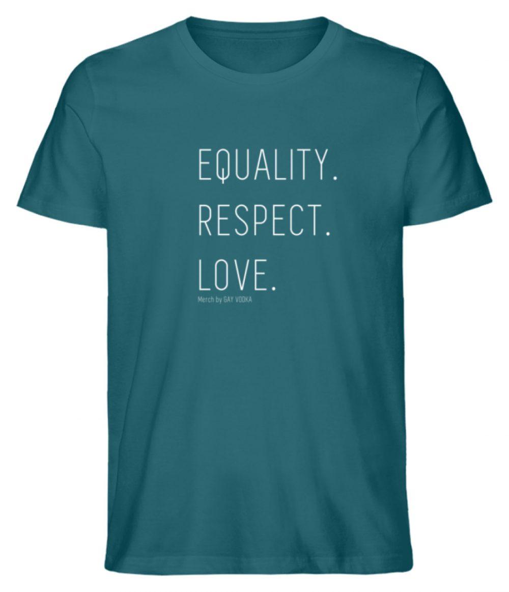 EQUALITY. RESPECT. LOVE. - Herren Premium Organic Shirt-6889