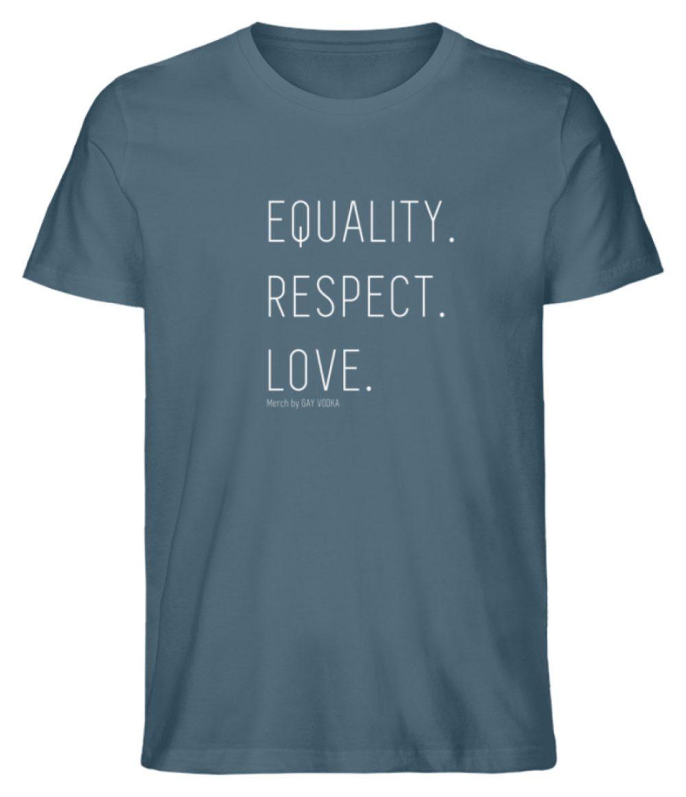 EQUALITY. RESPECT. LOVE. - Herren Premium Organic Shirt-6895