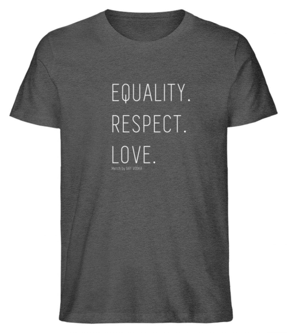 EQUALITY. RESPECT. LOVE. - Herren Premium Organic Shirt-6898