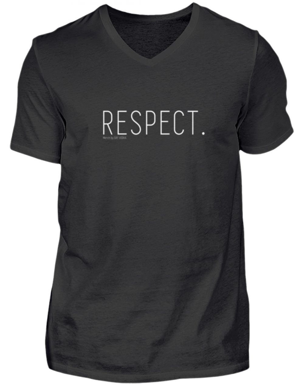 RESPECT. - Herren V-Neck Shirt-16