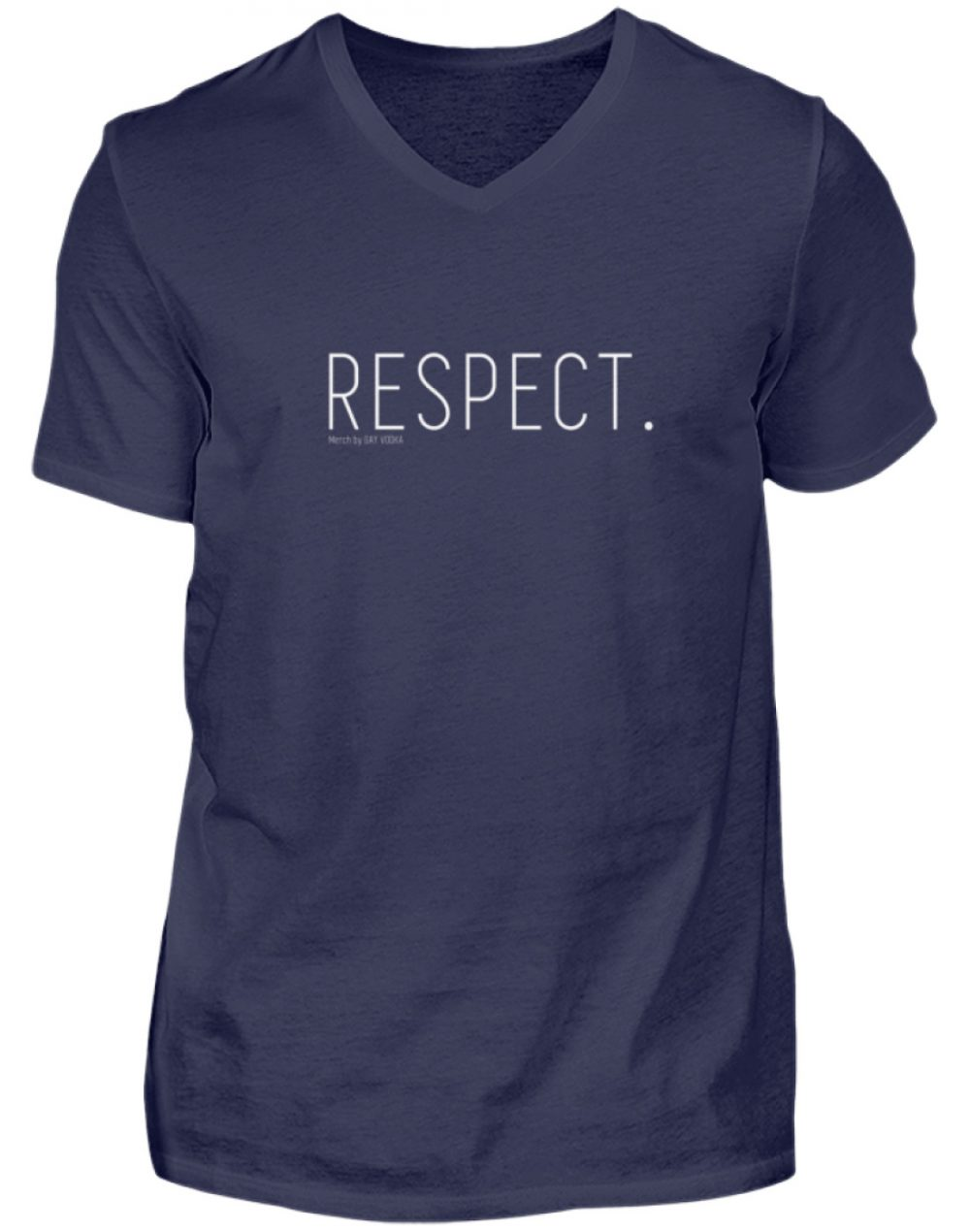 RESPECT. - Herren V-Neck Shirt-198
