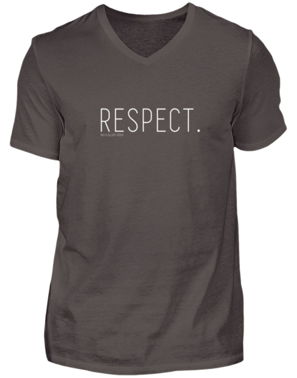 RESPECT. - Herren V-Neck Shirt-2618
