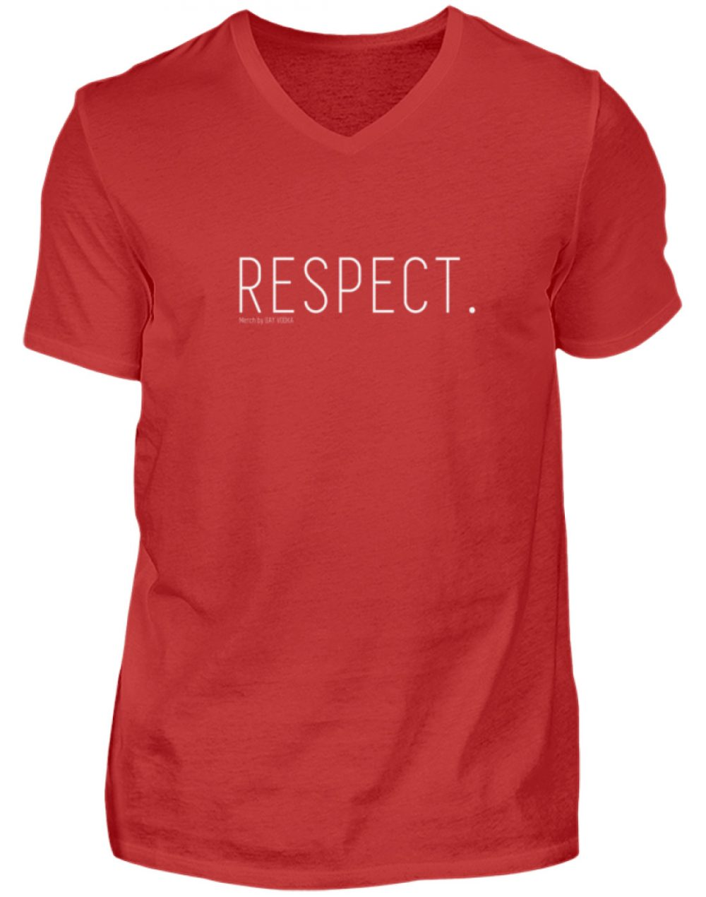RESPECT. - Herren V-Neck Shirt-4
