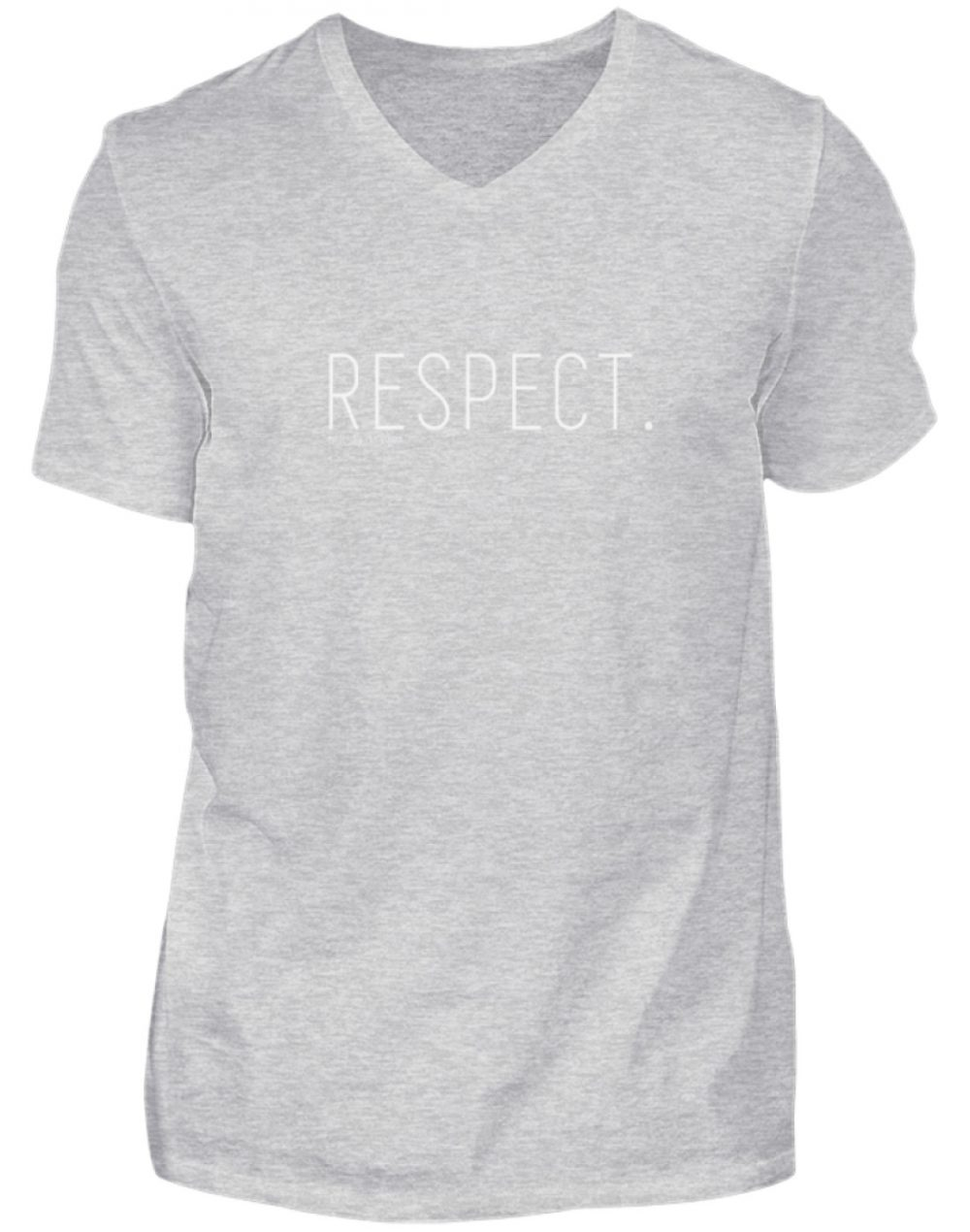 RESPECT. - Herren V-Neck Shirt-236