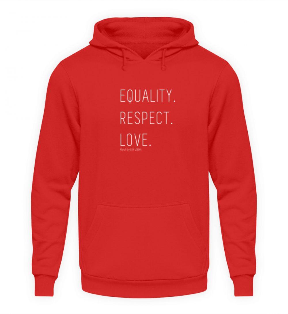 EQUALITY. RESPECT. LOVE. - Unisex Kapuzenpullover Hoodie-1565