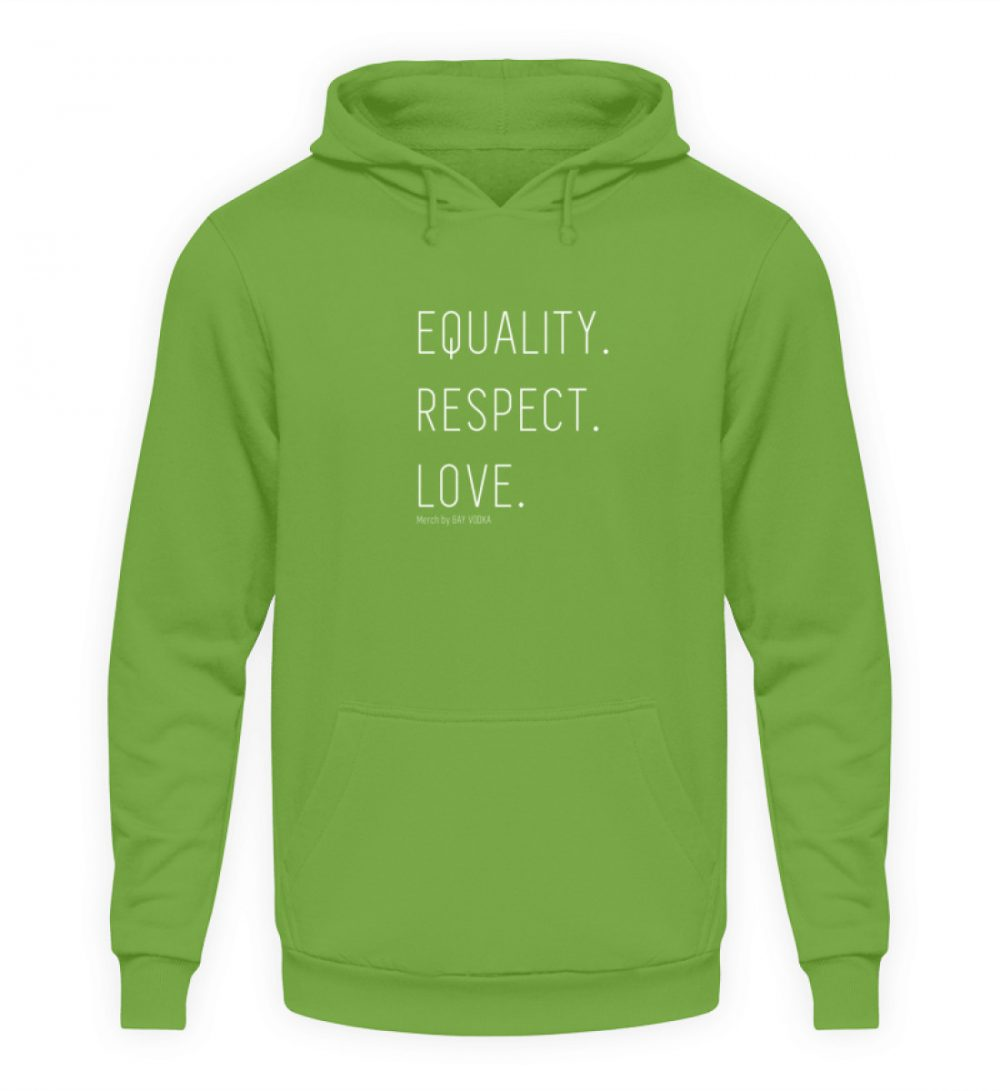 EQUALITY. RESPECT. LOVE. - Unisex Kapuzenpullover Hoodie-1646