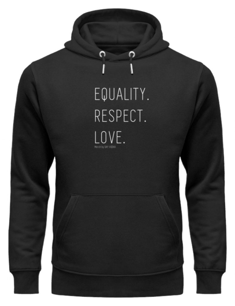 EQUALITY. RESPECT. LOVE. - Unisex Organic Hoodie-16