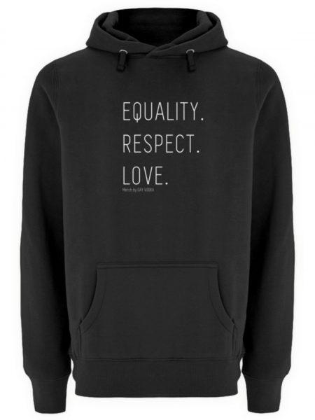 EQUALITY. RESPECT. LOVE. - Unisex Premium Kapuzenpullover-16