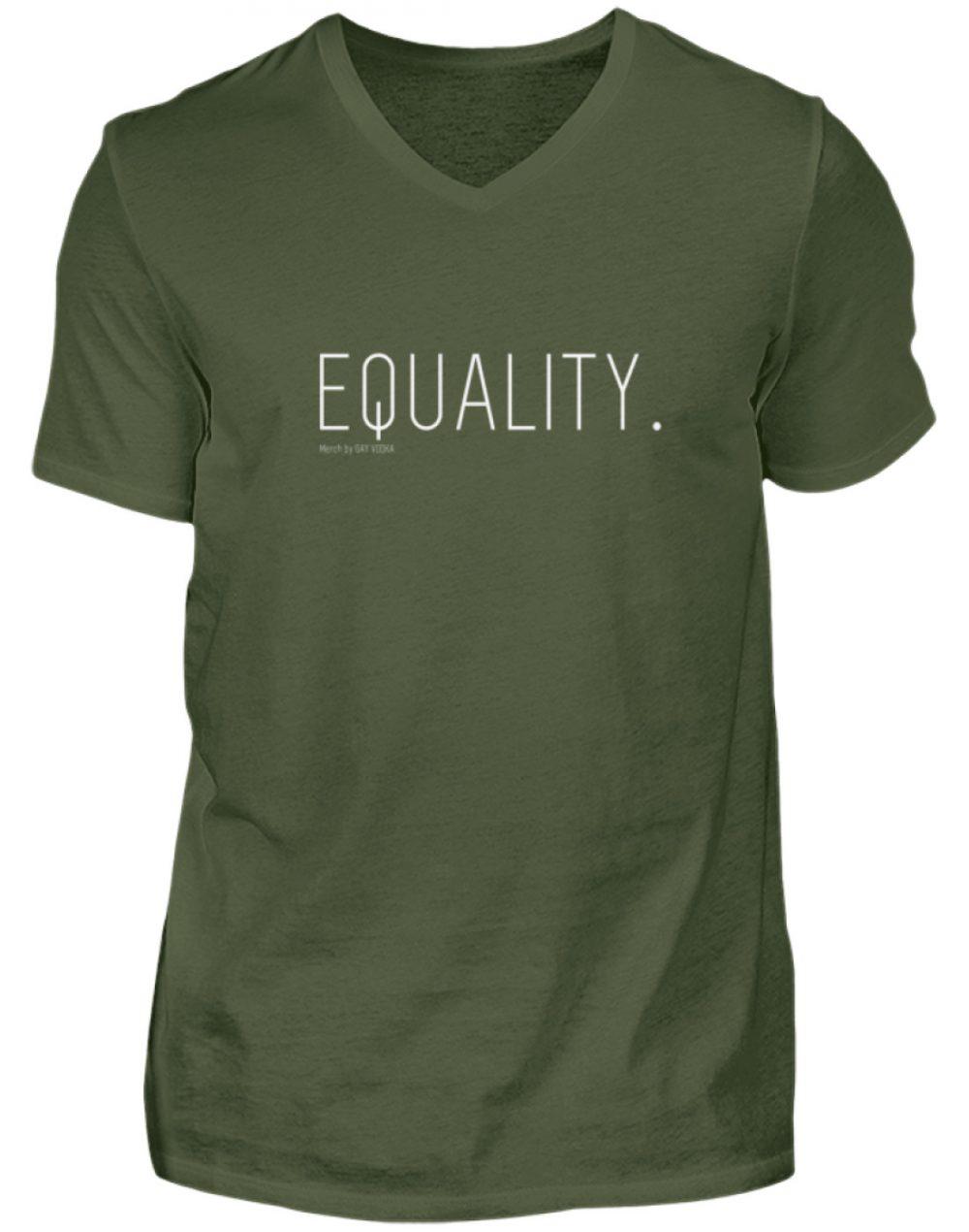 EQUALITY. - Herren V-Neck Shirt-2587