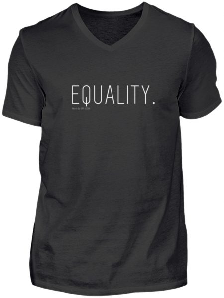 EQUALITY. - Herren V-Neck Shirt-16