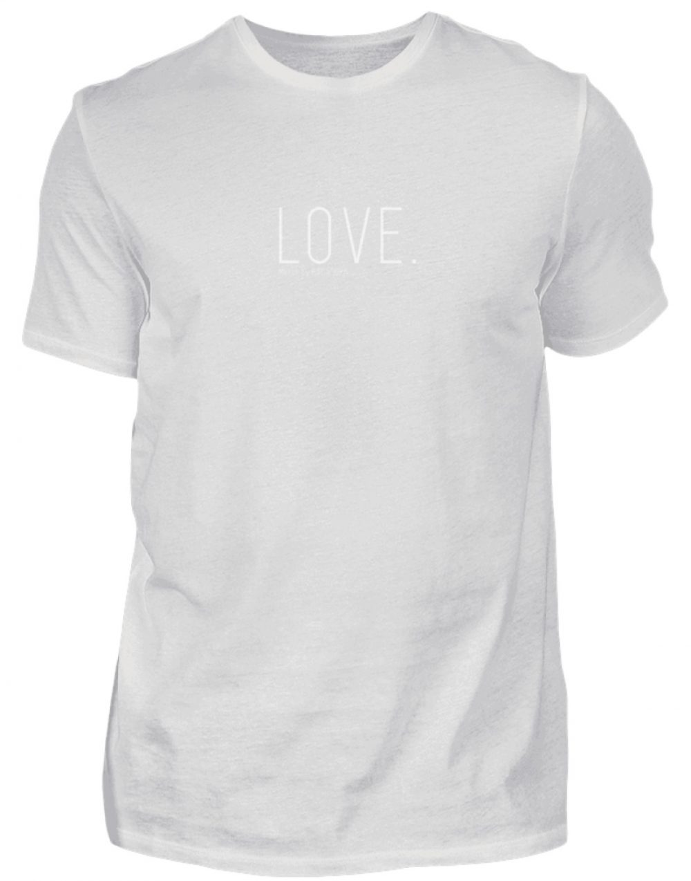 LOVE. - Herren Premiumshirt-1053