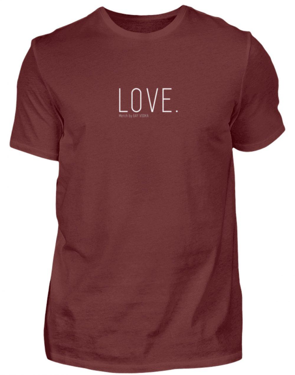 LOVE. - Herren Premiumshirt-3192