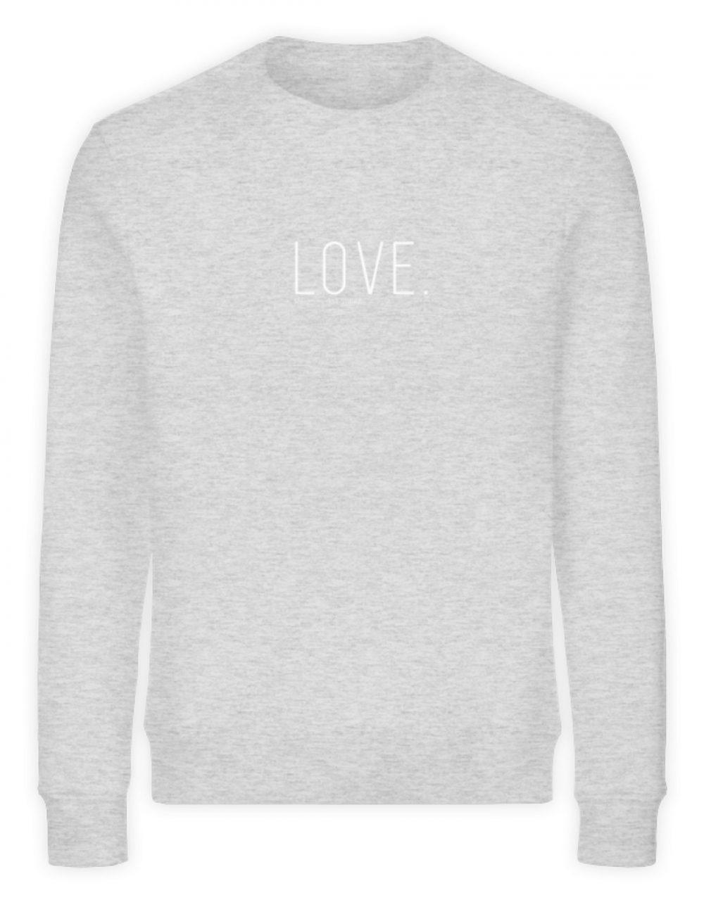 LOVE. - Unisex Organic Sweatshirt-6892