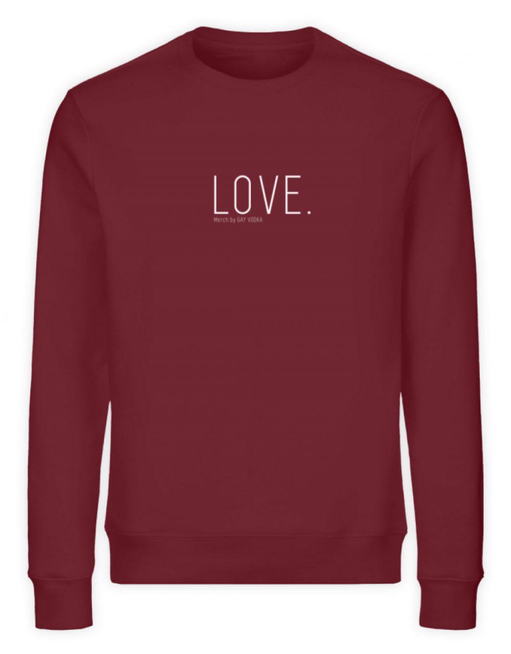 LOVE. - Unisex Organic Sweatshirt-6883