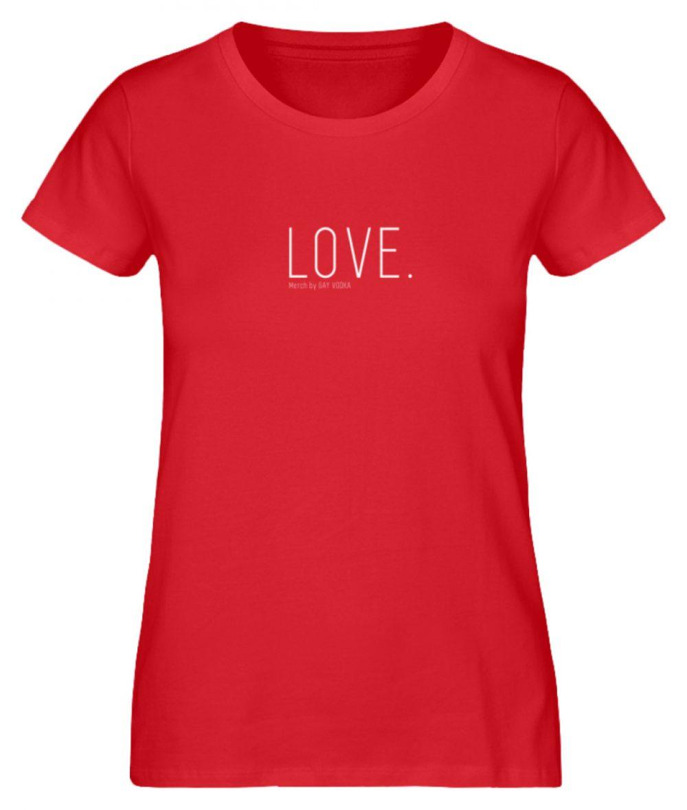 LOVE. - Damen Premium Organic Shirt-6882