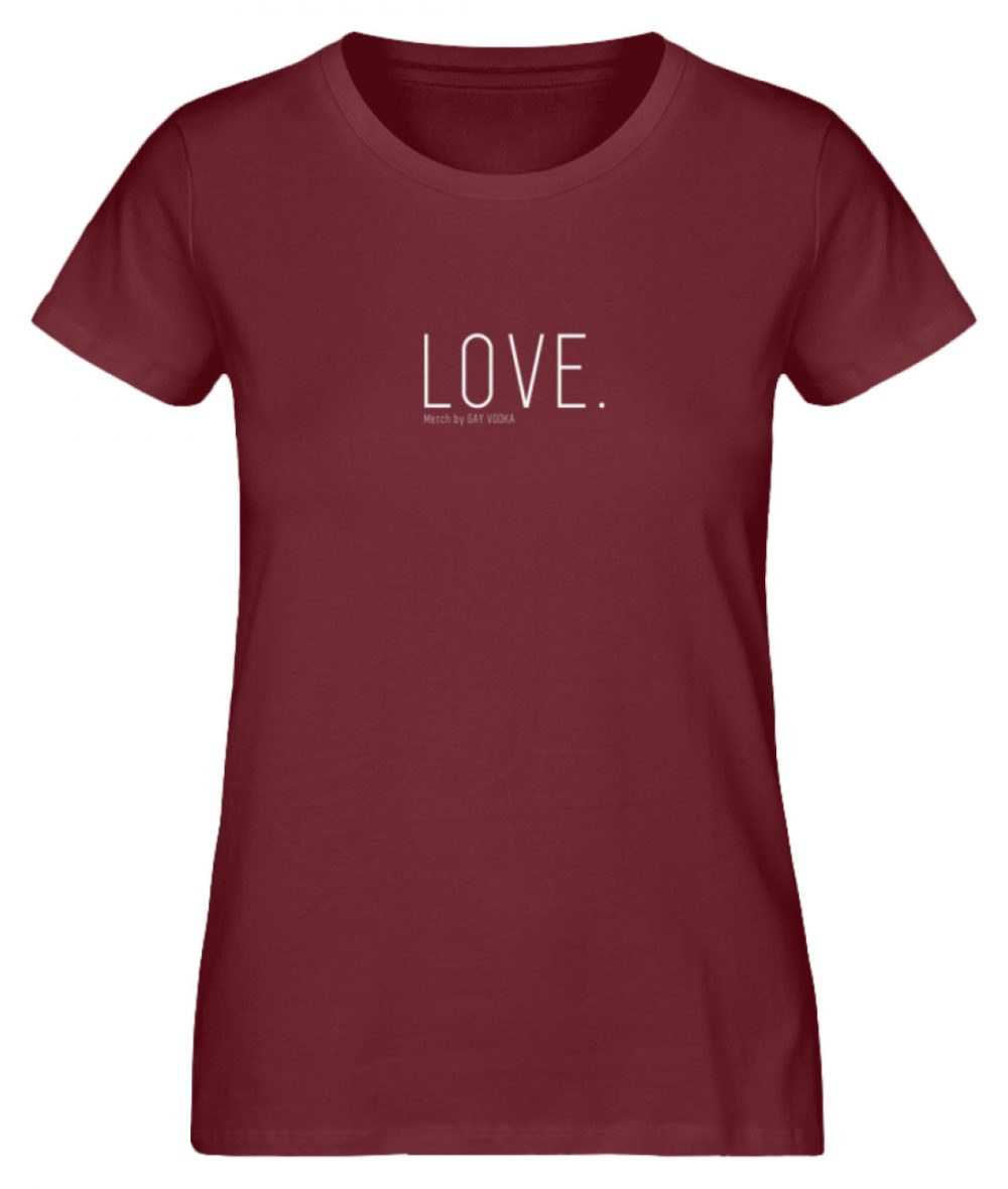 LOVE. - Damen Premium Organic Shirt-6883