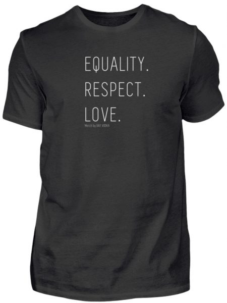 EQUALITY. RESPECT. LOVE. - Herren Premiumshirt-16